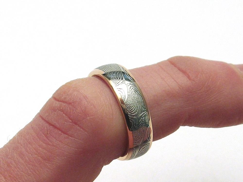 j arthur damascus rings blades jewelry