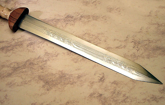 New Patternwelded Gladius From J Loose MyArmoury Magnificent Pattern Welded Sword
